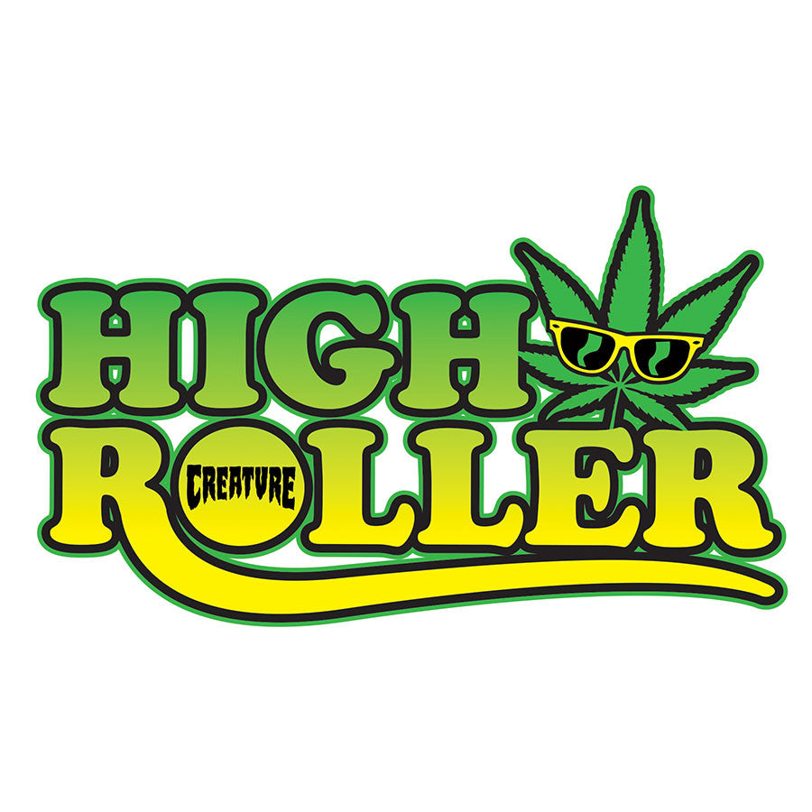 Creature High Roller Clear Mylar Decal  - Green - 6in x 3.6in - Sticker