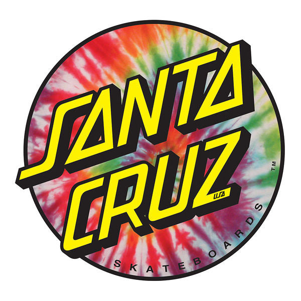 Santa Cruz Tie Dye Dot Decal - Tie Dye - 3in - Sticker