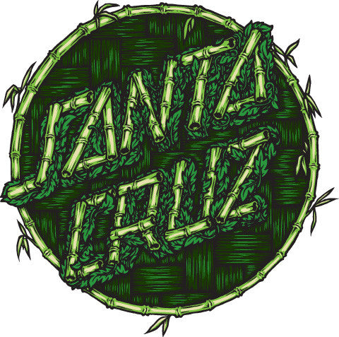 Santa Cruz Thatch Dot Decal - Green - 6in - Sticker