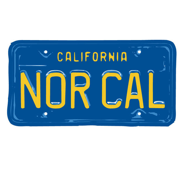 Nor Cal Plate Decal - Blue - 5in - Sticker