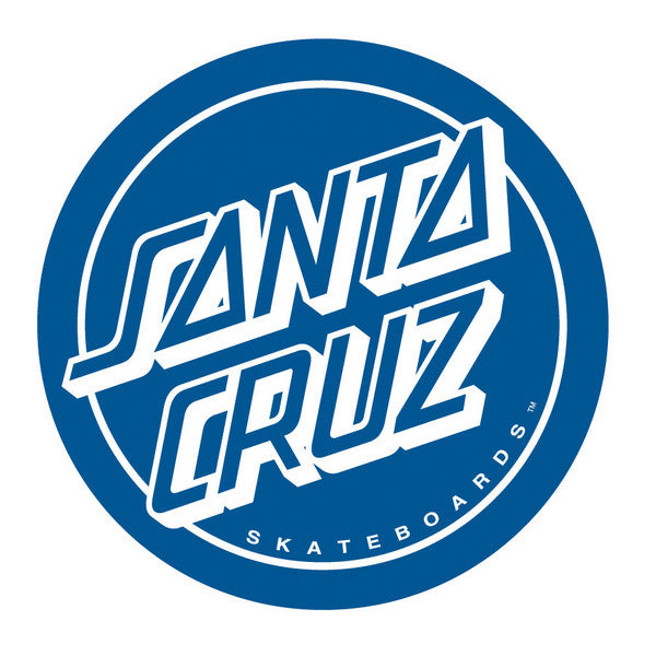 Santa Cruz Reverse Dot Decal - Blue - 6in - Sticker