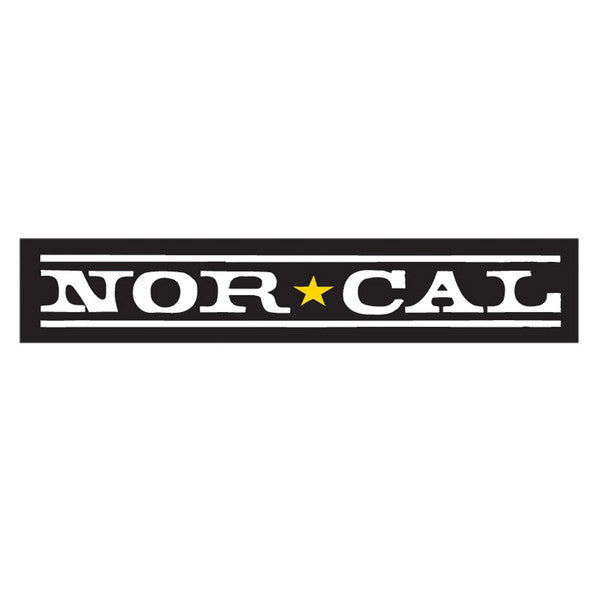 Nor Cal Original Logo Decal - Black - 8in - Sticker