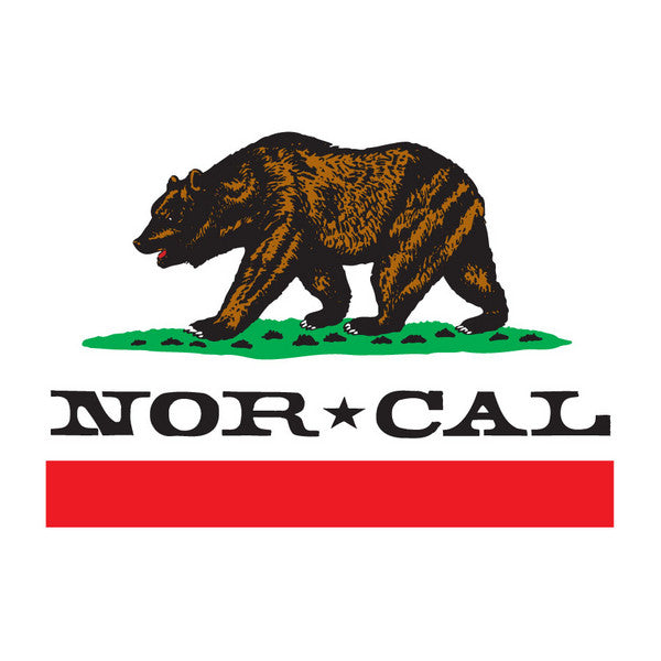 Nor Cal Republic - White - 5in - Sticker