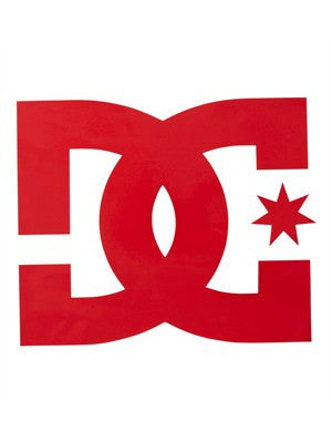 DC Star Vinyl - Red - 4in - Sticker