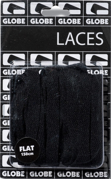 Globe Flat Lace - Black - Shoe Laces