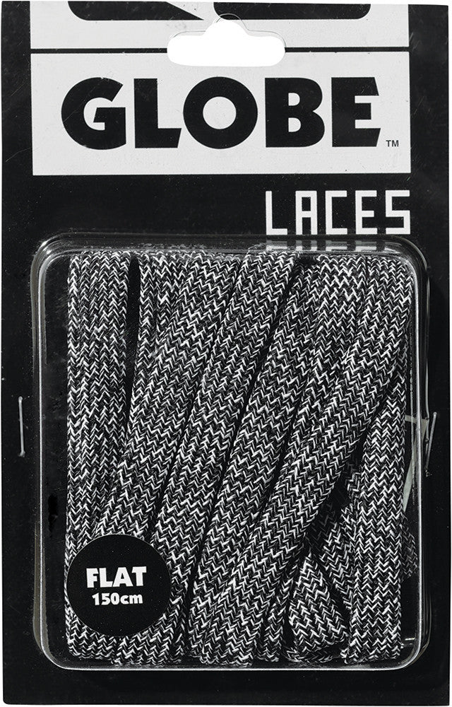 Globe Marle Lace - Black/White - Shoe Laces