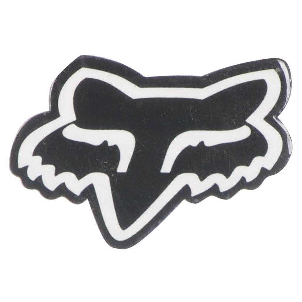 Fox Head 1in. - Black/White - Sticker
