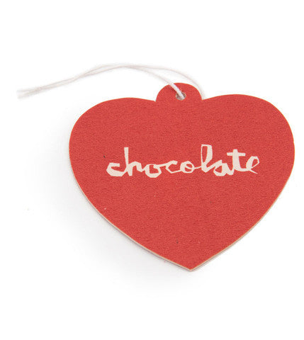 Chocolate Heart Air Freshner - Red - Apparel Accessory