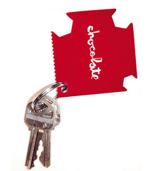 Chocolate Square Keychain Tool - Red - Apparel Accessory