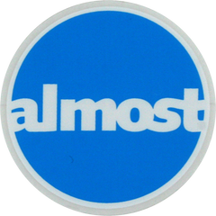 Almost Circle - Assorted Colors - 3.75in - Sticker