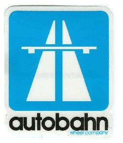 Autobahn Logo Small - Blue - Sticker