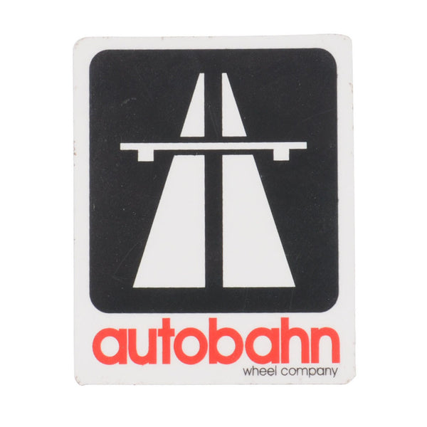 Autobahn Small Logo - Black/White/Red - Sticker