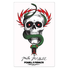 Bones Brigade McGill Skull & Snake Sticker - White - Sticker