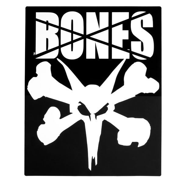 Bones Rat Ramp Square Sticker - Black/White - 16in - Sticker