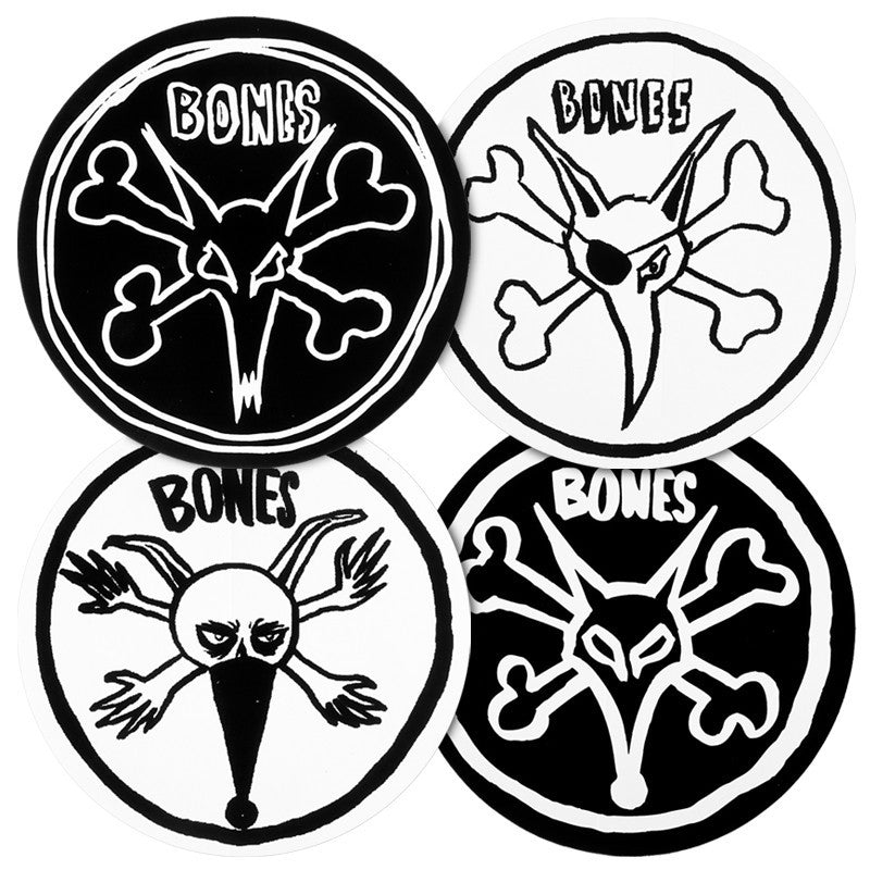 Bones Pope Rat - Assorted Colors - 4in - Sticker