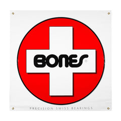 Bones Bearings Swiss Circle - 36in x 36in - Skate Banner