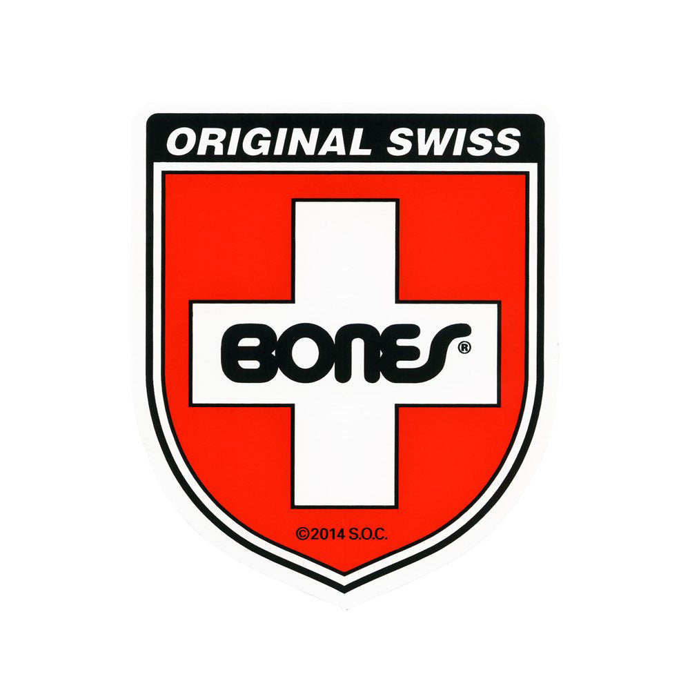 Bones Swiss Shield Small - Sticker