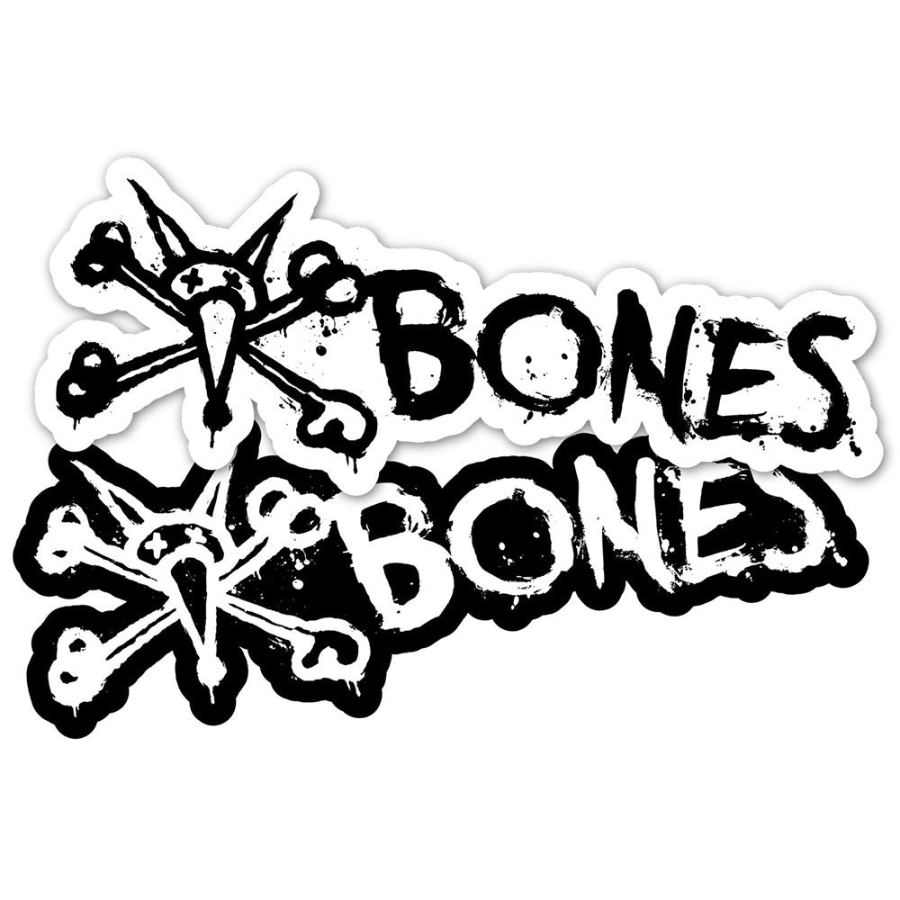 "Bones Vato Text 6"" - Black/White - Sticker"