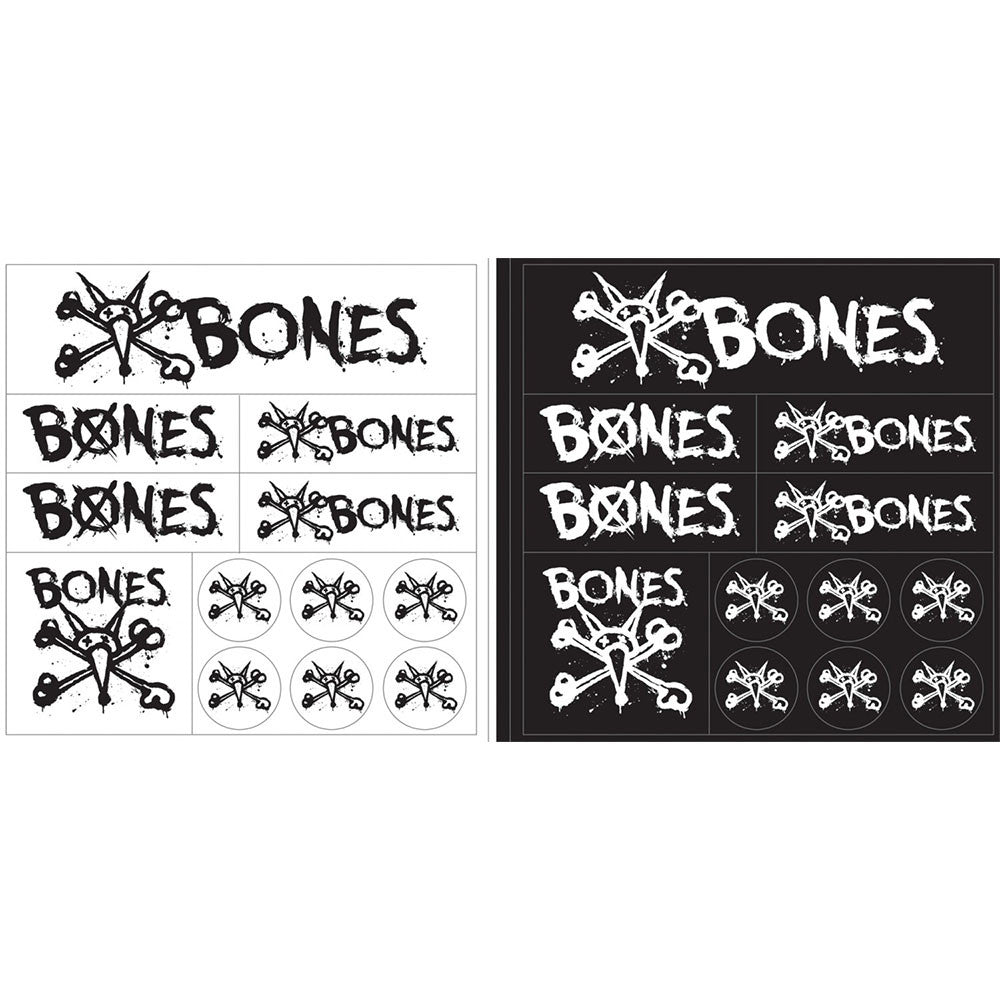 Bones Multi Pack - Black/White - Sticker Sheet