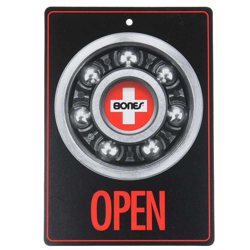 Bones Open & Closed - Black/Red - Sign