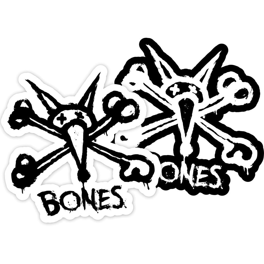 Bones Vato Stacked - White/Black - Sticker