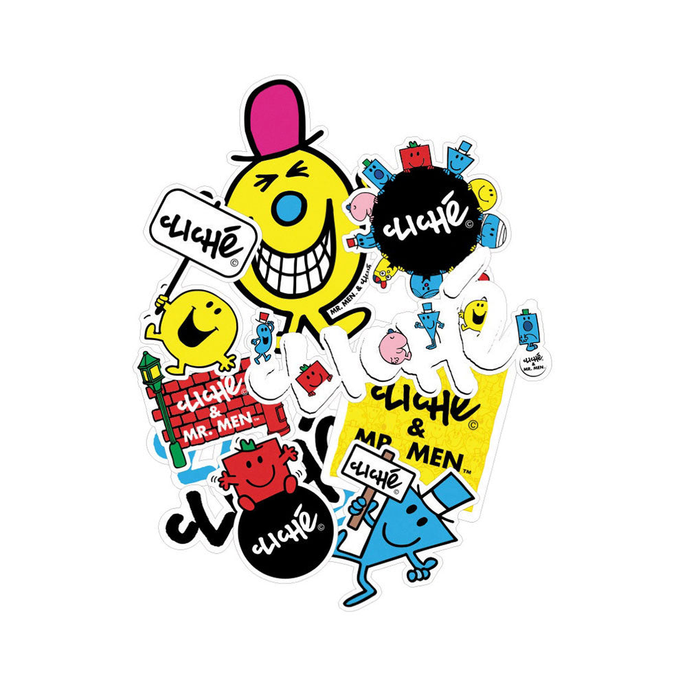 Cliche Mr. Men - Assorted - Stickers