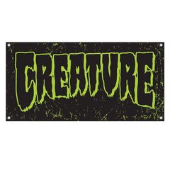 Creature Logo Banner - Black/Green - 48in - Skate Banner