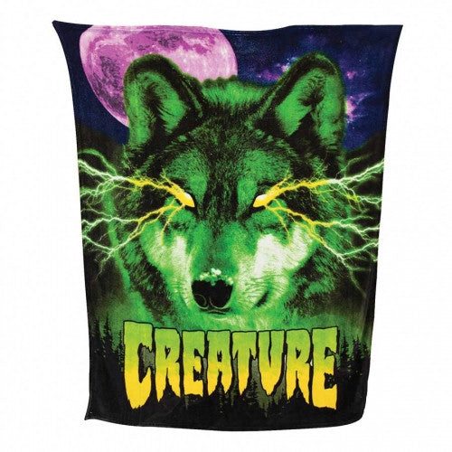 Creature Spirited Shroud Coral Fleece Blanket - Black - Apparel Accessory