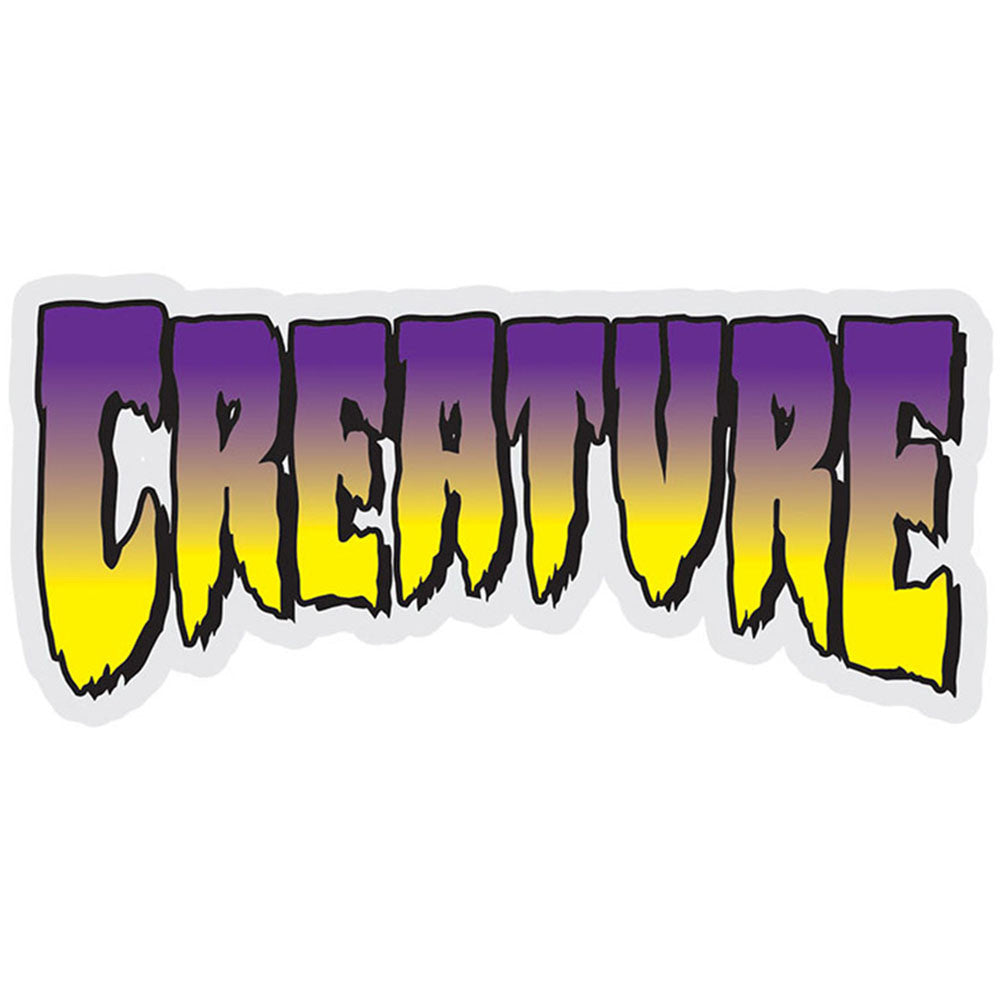 Creature Logo Decal - Purple - 5in x 2.25in - Sticker