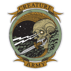 Creature Army Decal - Multi - 6.4in x 7in - Sticker