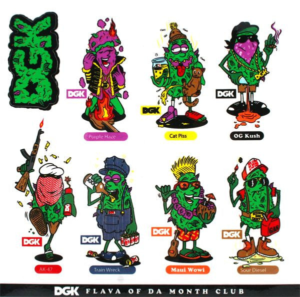 DGK Flava Of The Month Sheet Decal - Multi - Stickers