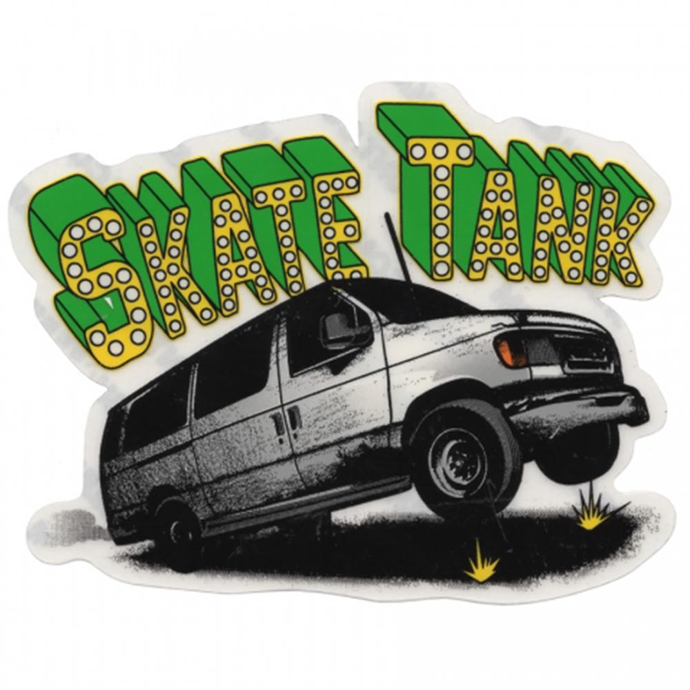 Shake Junt Skate Tank - White/Green - Stickers