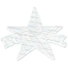 Nor-Cal Medium Star Decal - White - Sticker