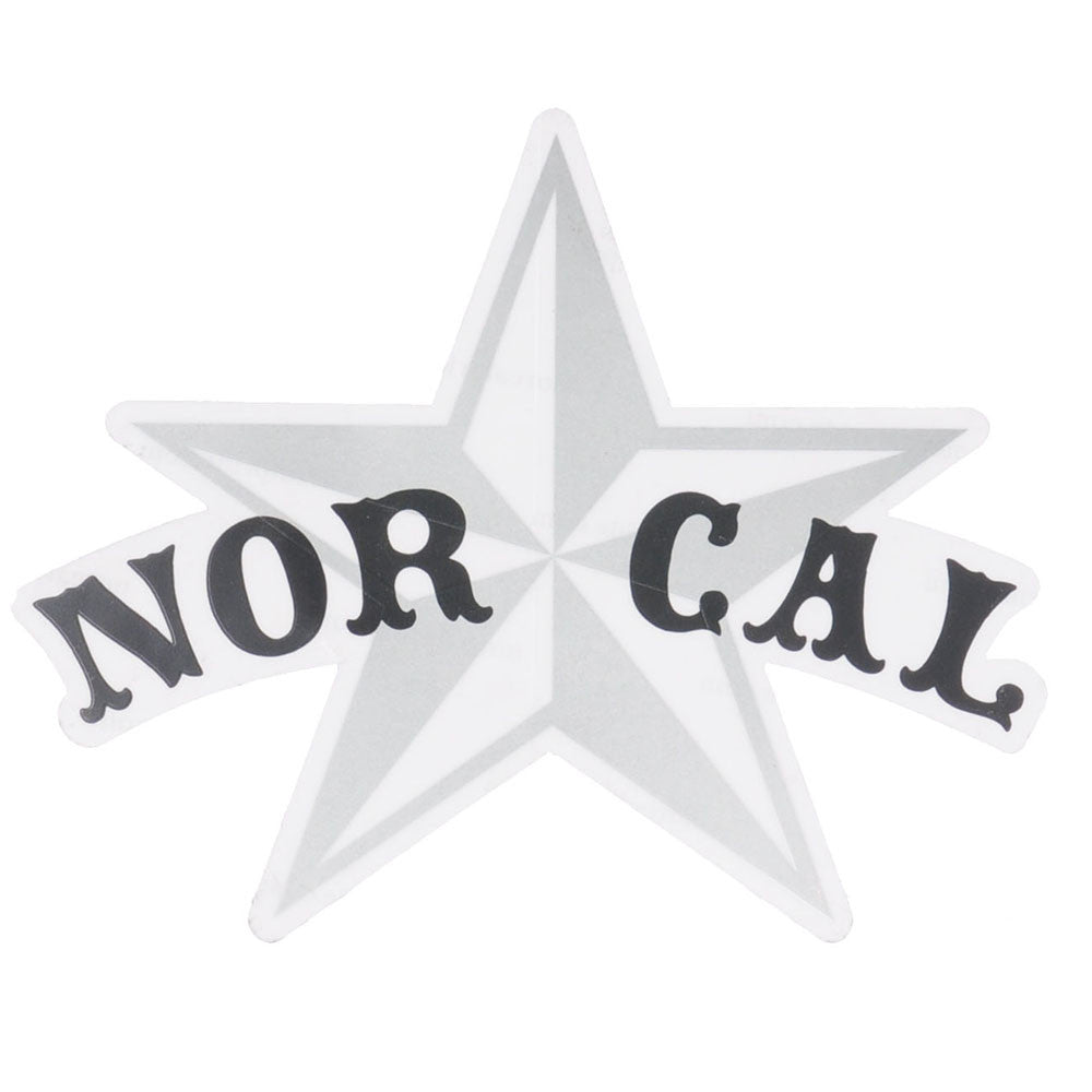 Nor-Cal Small Star Decal - Silver/Black - Sticker