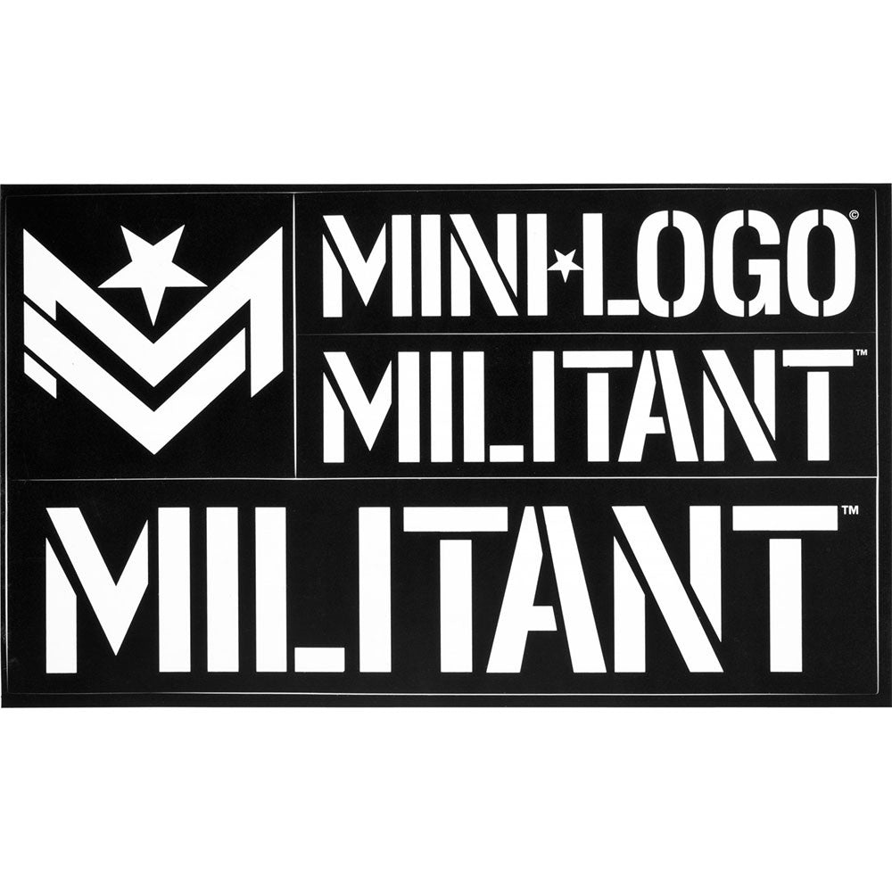 Mini Logo Militant - Black/White - Sticker