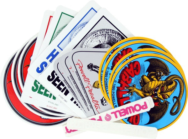 Powell Peralta Sticker Pack - Assorted Colors - Sticker