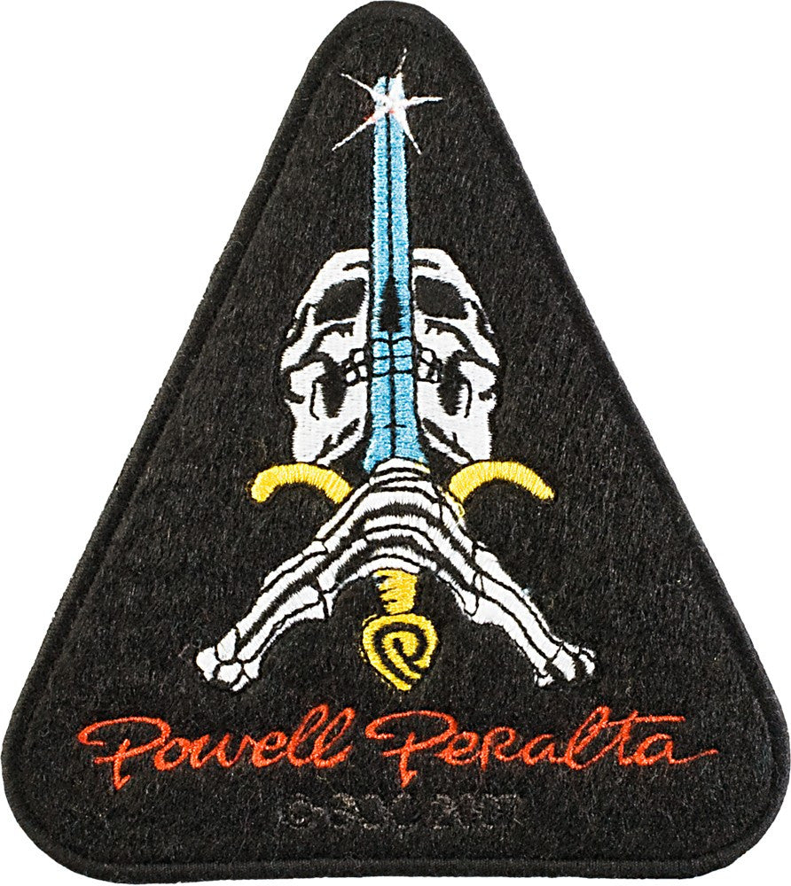 Powell Peralta Skull & Sword - Black - Patch
