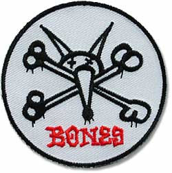 Powell Peralta Bones Rat - White/Black/Red - Patch