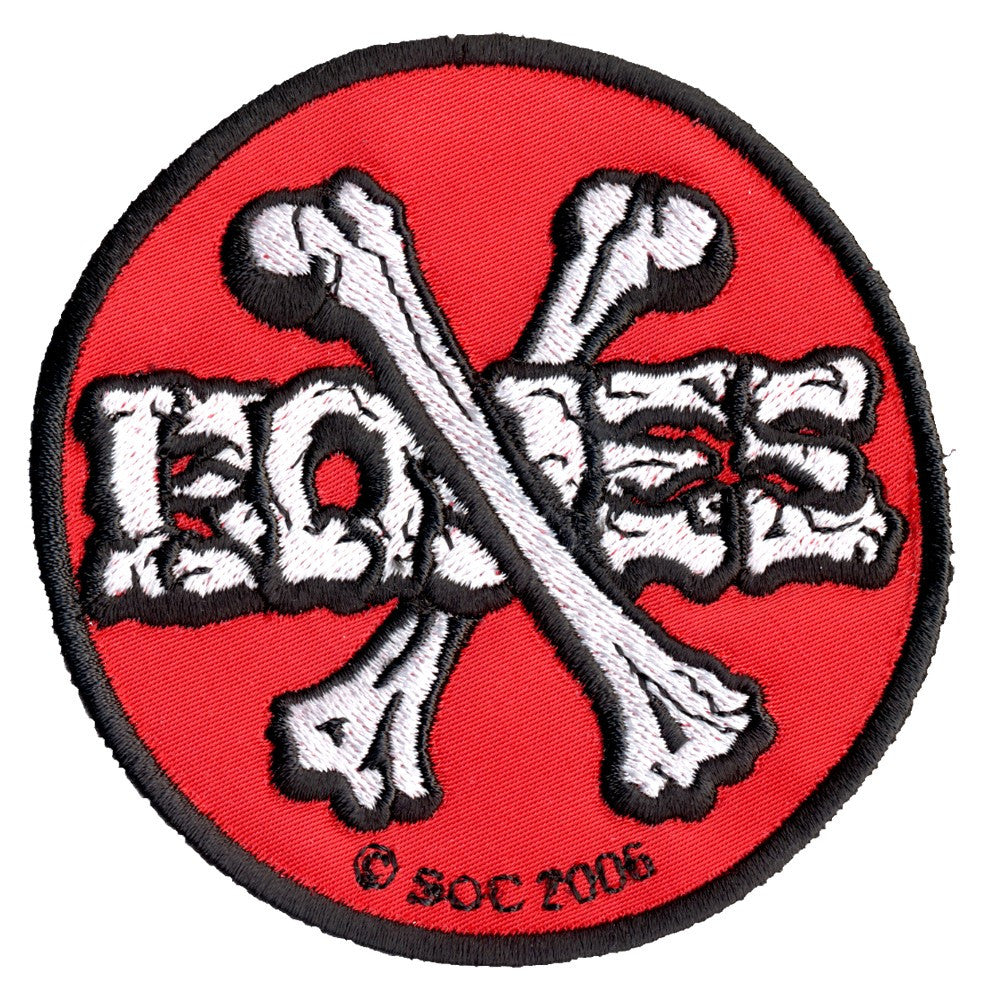 Powell Peralta Cross Bones - Red/White - Patch