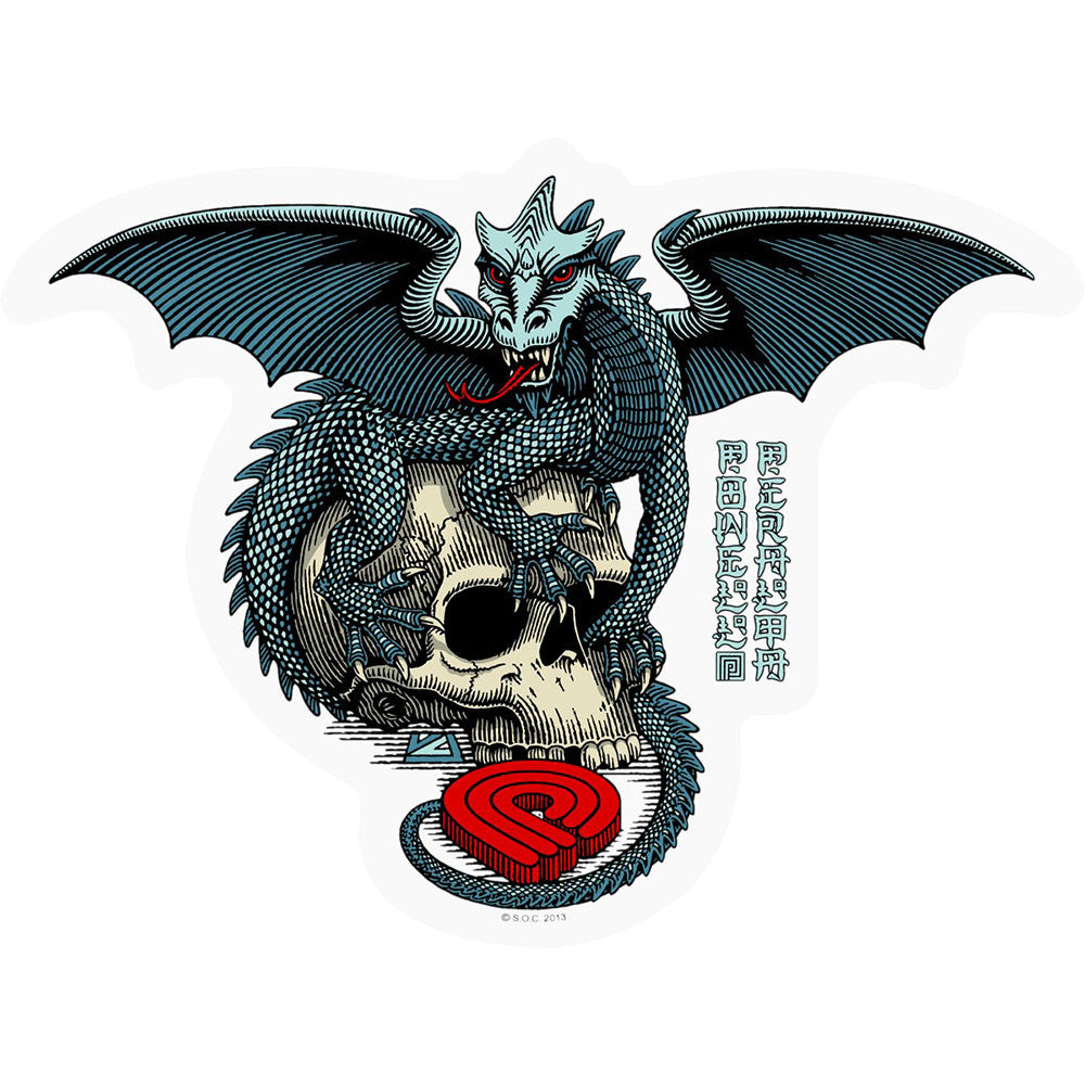 Powell Peralta Dragon Skull - Sticker