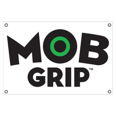 Mob 2008 Logo Banner Transpaque - White/Black - 24in x 36in - Skate Banner