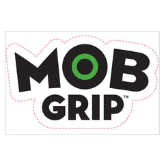 Mob Grip Decal - White/Black - 18in x 12in - Sticker