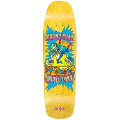 Enjoi Caswell Berry Bad To The Bone R7 - Yellow - 9.0 - Skateboard Deck