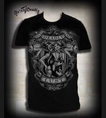 Se7en Deadly Lust Tee - Black - Mens T-Shirt