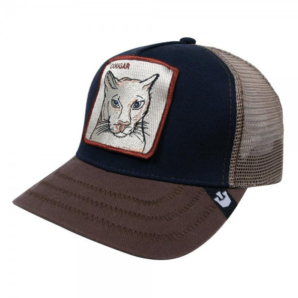 ac539122 Goorin Brothers Cougar Trucker Hat - Navy - Men's Hat – ActionVillage