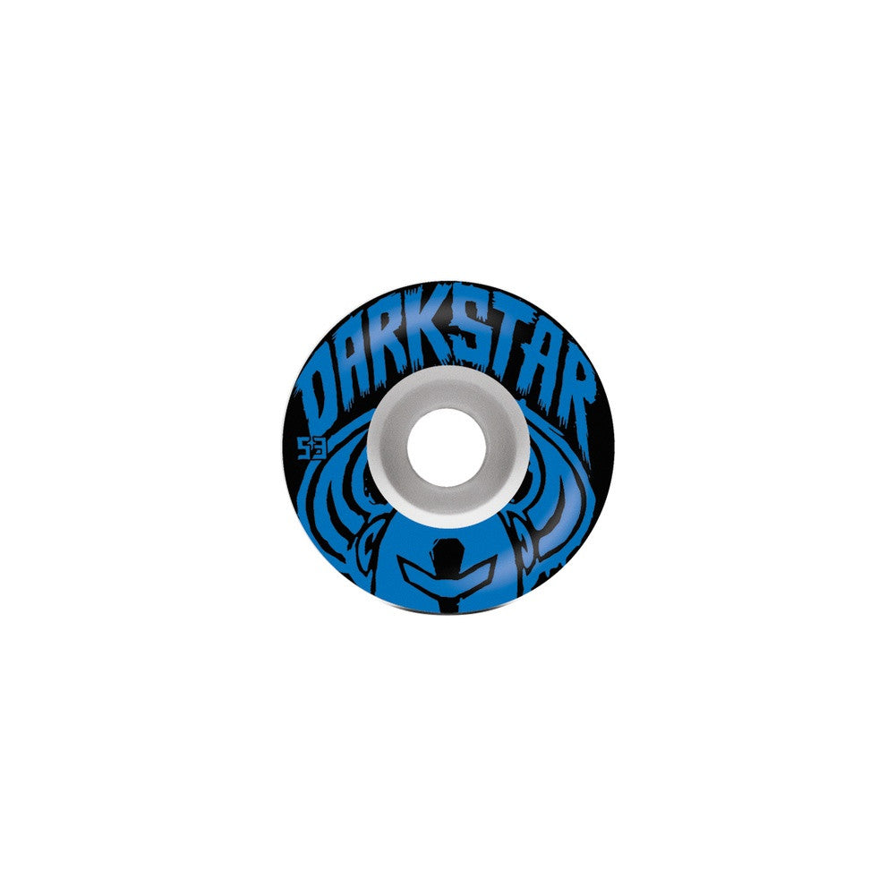 Darkstar Brush Price Knight - White/Blue - 53mm - Skateboard Wheels (Set of 4)