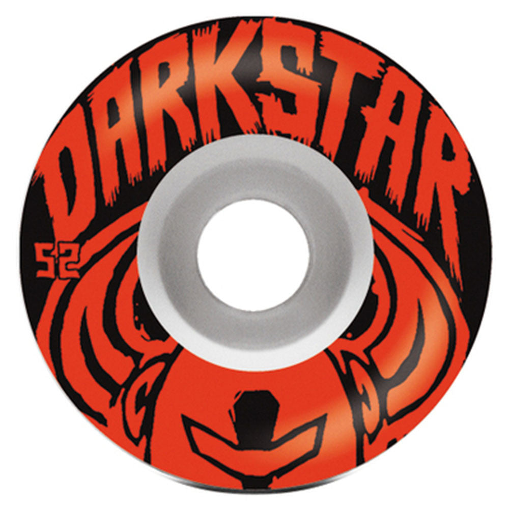 Darkstar Brush Price Knight - White/Red - 52mm - Skateboard Wheels (Set of 4)