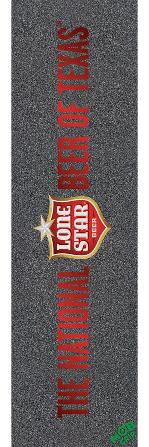 Mob PBC Lonestar Beer Of Texas Grip Tape 9in x 33in - Skateboard Griptape (1 Sheet)