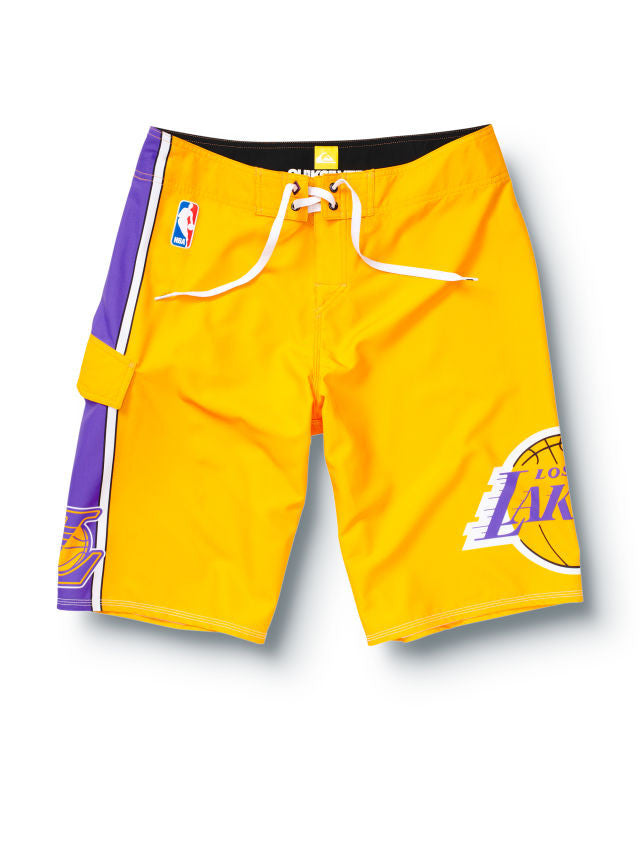 "Quiksilver Lakers NBA 22"" Boardshorts - Yellow - Mens Boardshorts"
