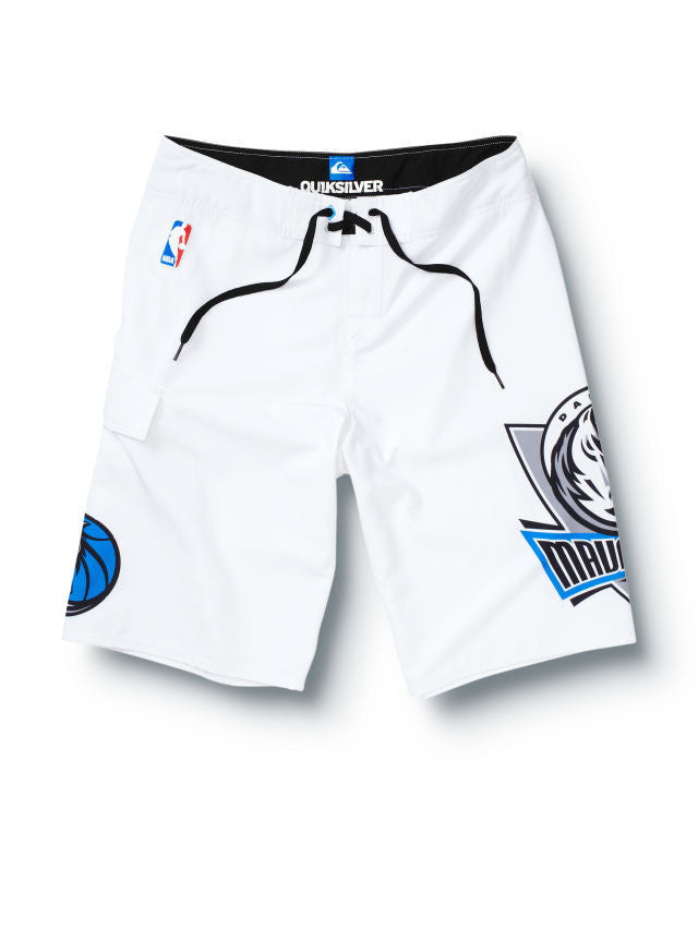 "Quiksilver Mavericks NBA 22"" Boardshorts - White - Mens Boardshorts"